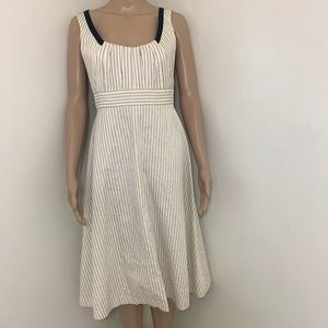 CAROLINA HERRERA Striped Dress  Sz 4 Made In USA.